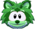 Green raccoon 3d icon