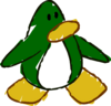 Doodle Dimension penguin Dark Green