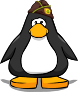 Puffle Guide Hat on a Player Card