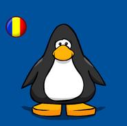 Romania Flag on a Player Card