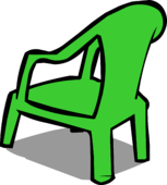 Green Plastic Chair sprite 003