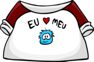 I Love My Puffle T-Shirt icon pt