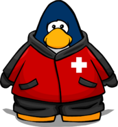 Ski Patrol Jacket from a Player Card