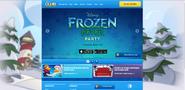 FrozenFeverPartyHomepageScreen