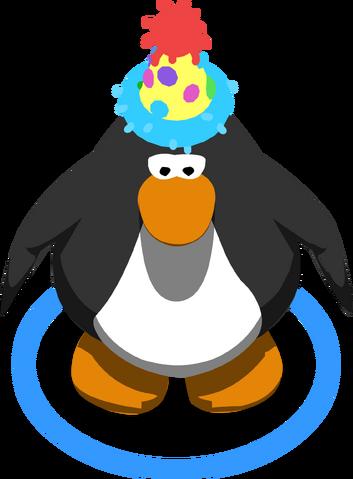 File:Polka Dot Puffle Hat ingame.PNG