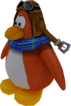 Sled Racer Penguin Model Orange