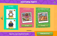 Zootopia Party interface page 5