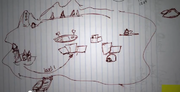 Club Penguin Island rough sketch