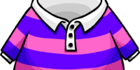 Pink Striped Rugby Shirt