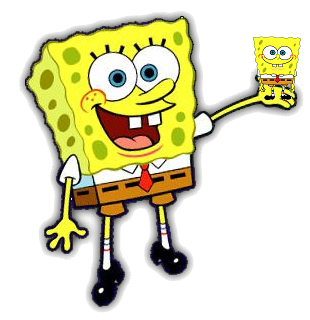 File:Spongebob With The Spongebob Spy Phone.png