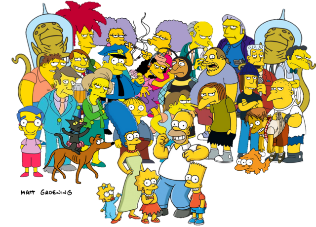 File:Simpsons Characters.png
