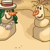 Summer Snowman Background