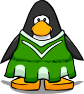 Green Cheerleader Outfit from a Player Card