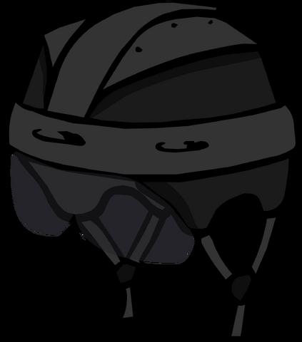 File:Black Hockey Helmet.png