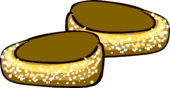 Gold Sparkle Loafers