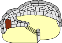 Splited Snow Igloo (icon)