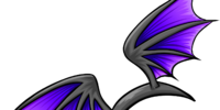 Purple Bat Wings