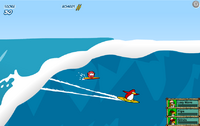 Surfing puffle