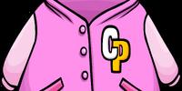 Pink Letterman Jacket