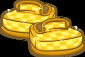 GoldCheckeredShoes