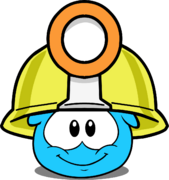 Mining Helmet (Puffle Hat) in Puffle Interface