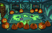 Halloween Party 2014 Puffle Hotel Pool