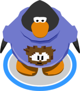 Brown Pixel Puffle Tee in-game