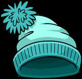 Turquoise Toque puffle hat