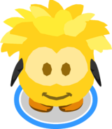 Gold Puffle Costume in-game