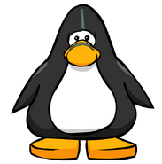 Caveguin Face Paint from a Player C ard
