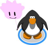 Pink Puffle Balloon in-game