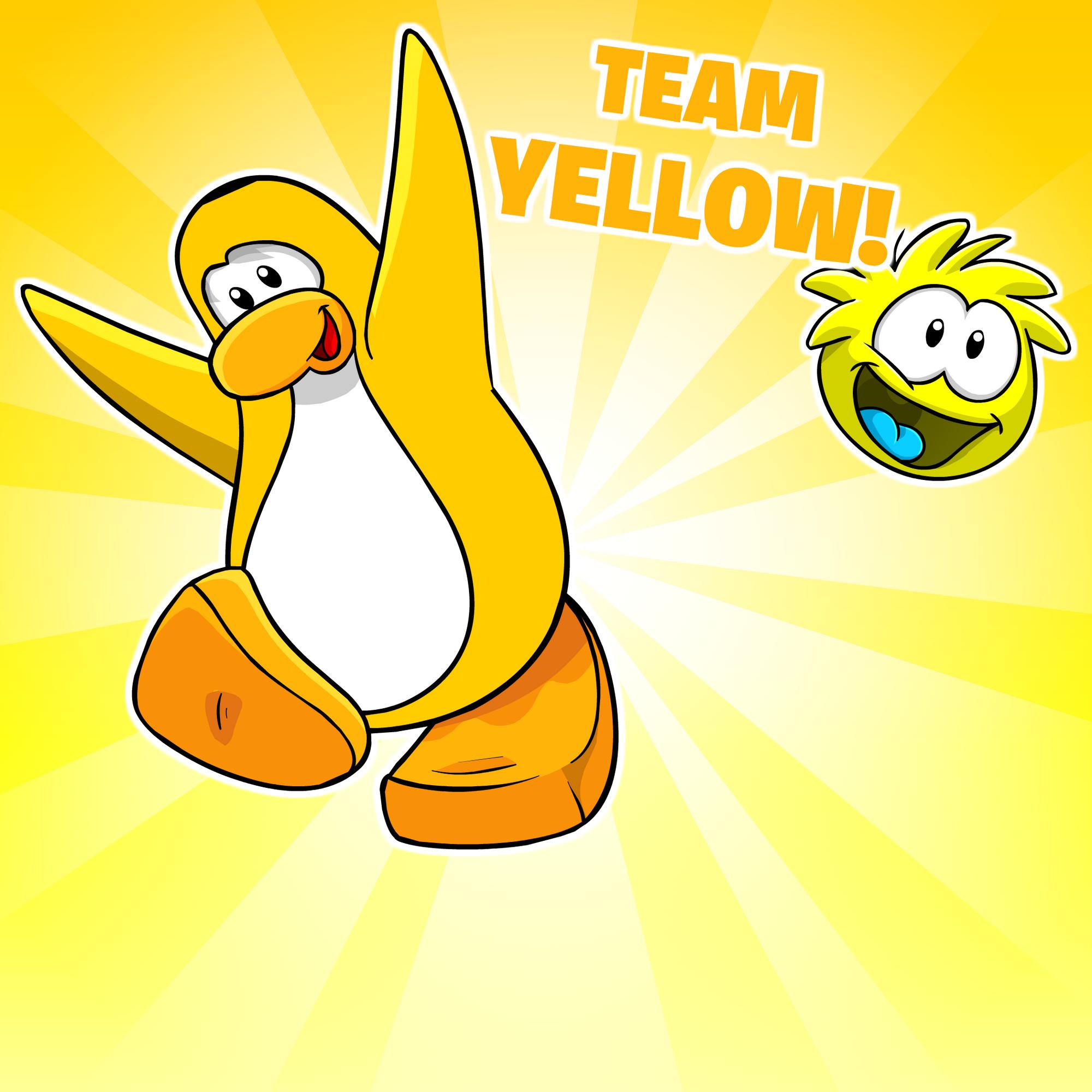 Go Yellow Background   Club Penguin Wiki   FANDOM powered ...