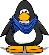 Blue Designer Scarf on a Player Card
