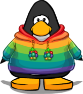 Rainbow O'berry Hoodie on a Player Card