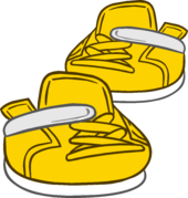 Gold Sneakers clothing icon ID 6176