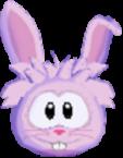 Pink rabbit 3d icon