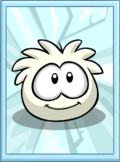 White Puffle Poster