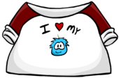 I Love My Puffle T-Shirt clothing icon ID 205