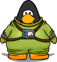 Divers Suit from a Player Card