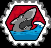 Shark! stamp