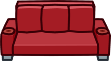 Red Designer Couch icon