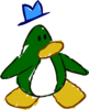 Doodle Dimension penguin Dark Green hat