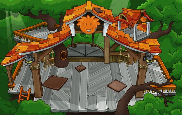 File:Orange Puffle Tree House sprite.png