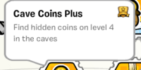 Cave Coins Plus stamp