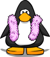 Pink Feather Boa from a Player Card