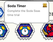 Soda timer stamp book