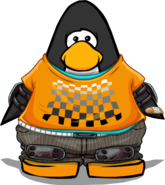 Orange Skater Outfit on Player Card