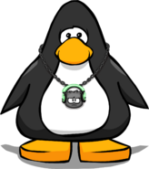 Dubstep Puffle Bling on a Player Card