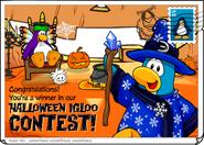 Igloo contest halloween postcard