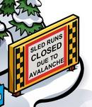 Sled Runs Closed Sign